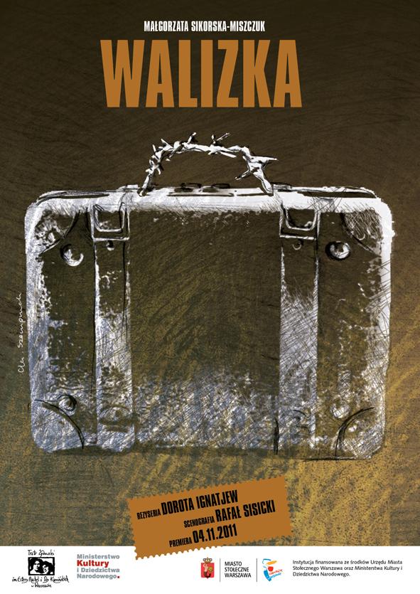 walizka plakat teatralny