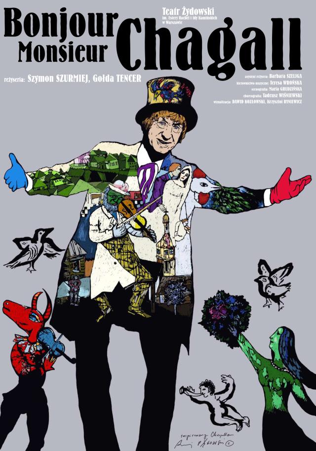 Plakat teatralny Bonjour Monsieur Chagall