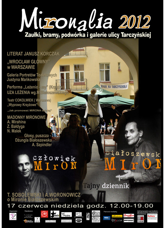 Mironalia plakat teatr festiwal