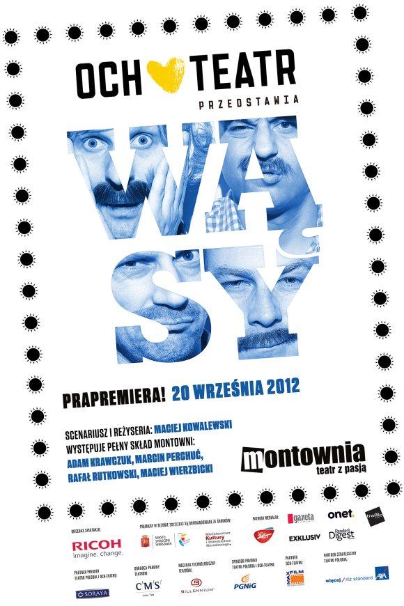 Plakat teatralny Wąsy