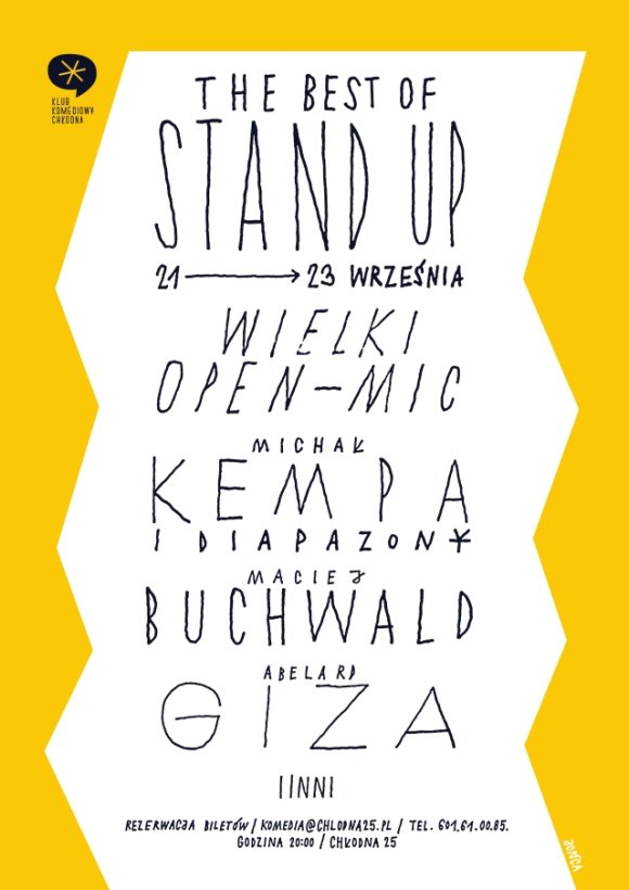 The best of stand up na Chłodnej - plakat