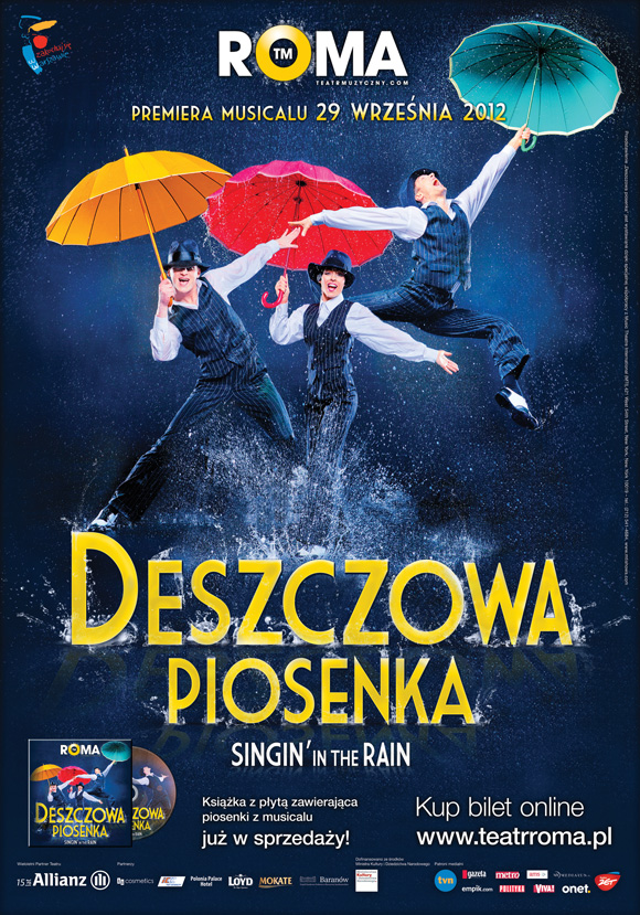 plakat teatralny deszczowa piosenka