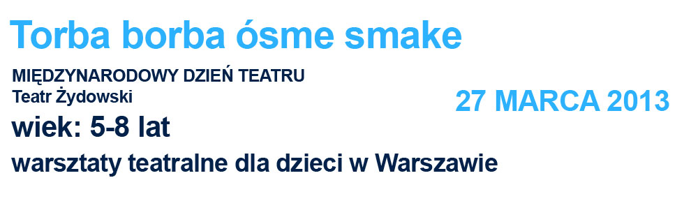 warsztaty dla dzieci w Warszawie