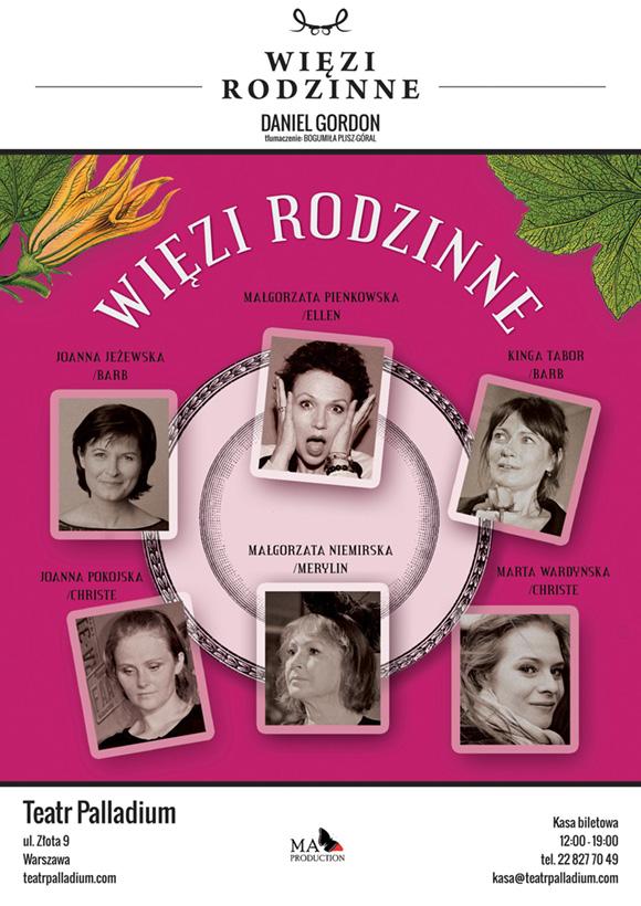 plakat teatralny więzy rodzinne spektakl